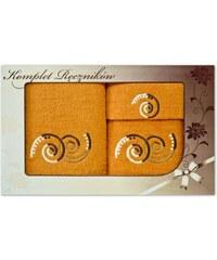 Detexpol Luxusní set ručníky a osuška froté - pomeranč