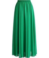 CHICWISH Dámská sukně Maxi Candy Chiffon zelená Velikost: M