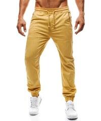Zářivé zlaté baggy kalhoty RED POLO 658