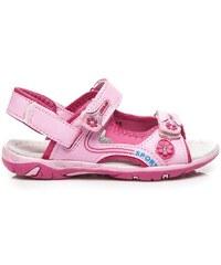 AWARDS Pohodlné růžové sandálky pro dívky