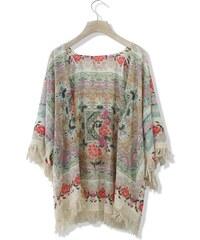 CHICWISH Dámské kimono Boho Floral