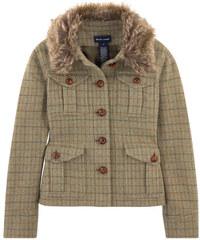 Ralph Lauren Jacke aus Tweed mit Kragen aus Pelz