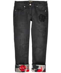 "Roberto Cavalli Kids Jeans ""Slim Fit"" aus Ton in Ton bedrucktem Baumwoll-Satin"