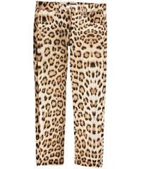"""Roberto Cavalli Kids Hose """"Slim Fit"""" aus Baumwoll-Satin mit Leoparden-Print"""