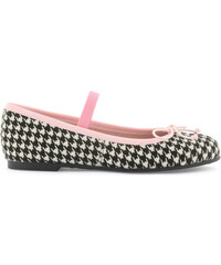 PrettyBallerinas Houndstooth-printed false fur flats