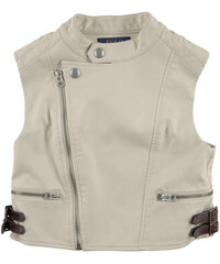 Ralph Lauren Vegan leather sleeveless biker jacket