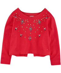 Pinko Up Boatneck sweatshirt trimmed with pearls