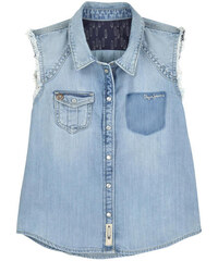 Pepe Jeans Sleeveless cotton and lycocell shirt