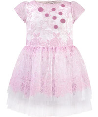 Simonetta Embroidered tulle party dress - Pink