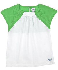 Parrot Italy Two-coloured stretch jersey and crepe T-shirt
