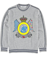 Frankie Morello Toys Boat-printed knit sweater - Light grey