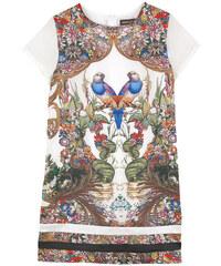 Roberto Cavalli Kids Bedrucktes Kleid aus Seide