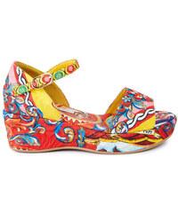 Dolce & Gabbana Wedges aus Brokat