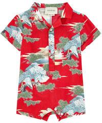 Gucci Kurzer Overall mit Print