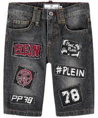 Philipp Plein Jeans-Bermuda mit Applikationen