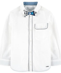 Little Marc Jacobs Oxford-Hemd mit abnehmbarem Patch