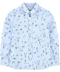 Paul Smith Junior Bedrucktes Hemd aus Popeline