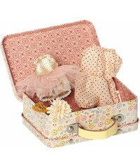 Maileg Plechový kufřík s oblečky pro dívky - micro