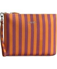 Kabelka LIU JO - Pochette Stripes N16223 E0087 Flame Orange St 03V09
