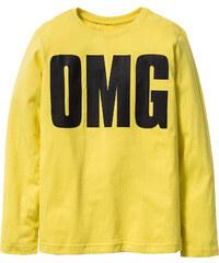 bpc bonprix collection T-shirt manches longues avec imprimé rock, T. 116/122-164/170 jaune enfant - bonprix