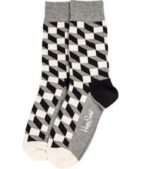 Happy Socks Chaussettes Chaussettes Géométriques Grises Homme