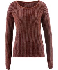 bpc bonprix collection Pullover 2-farbig langarm in braun für Damen von bonprix
