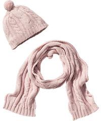 bpc bonprix collection Bonnet + écharpe (Ens. 2 pces.) rose enfant - bonprix