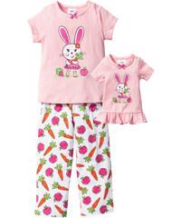 bpc bonprix collection Pyjama + chemise de nuit de poupée (Ens. 3 pces.), T. 92/98-152/158 rose lingerie - bonprix