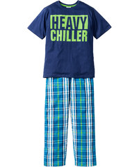 bpc bonprix collection Pyjama (Ens. 2 pces.), T. 128/134-176/182 bleu enfant - bonprix