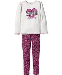 bpc bonprix collection Pyjama (Ens. 2 pces.), T. 128/134-176/182 blanc enfant - bonprix