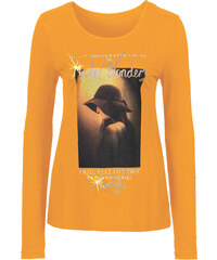 BODYFLIRT T-shirt manches longues orange femme - bonprix