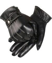 Cixi Pánské zateplené koženkové rukavice