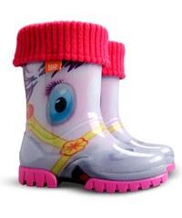 Demar Dívčí holínky Twister LUX Print HA Pony