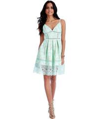 Goddess Gooddes Dámské společenské šaty s krajkou ARIANA Mint Barva: Zelená,