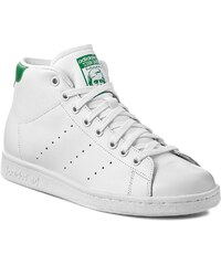 Boty adidas - Stan Smith Mid S75028 Ftwwht/Ftwwht/Green