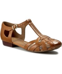 Sandály CLARKS - Henderson Luck 261087424 Tan Leather