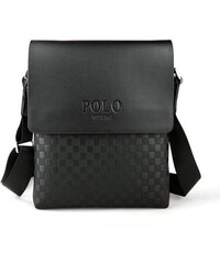 POLO VIDENG Travel pánská kožená taška černá