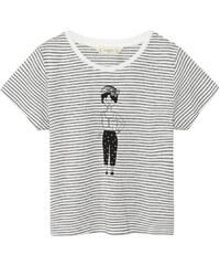 MANGO KIDS Gestreiftes Baumwoll-Shirt