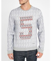 Carven Buntes Sweatshirt mit Rundhalsausschnitt EXKLUSIVMODELL 5 JAHRE MENLOOK