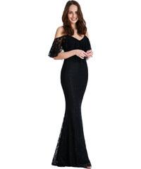 Goddess Dlouhé šaty CAMELLIA BLACK Barva: Černá,