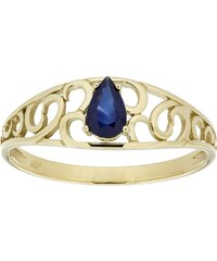 Vivance Jewels Ring mit Saphir in Tropfenform