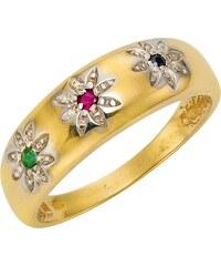 Vivance Jewels Ring mit Safir, Smaragd und Rubin