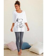 Peanuts Pyjama mit Leggins und legerem Shirt mit Snoopyprint PEANUTS natur 32/34,36/38,40/42,44/46,48/50,52/54,56/58