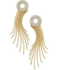 Náušnice Thalia Sodi gold tone pave circle fringe drop E214930G