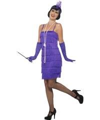 Kostým Flapper krátké šaty fialové Velikost L 44-46