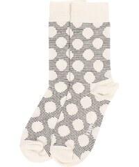 Happy Socks Chaussettes Chaussettes Gros Pois Grises Et Blanches Homme
