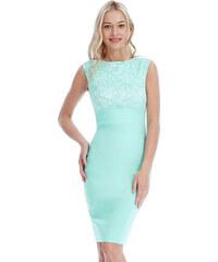 Goddess Elegantní šaty VERONA MINT Barva: Zelená,