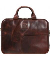 Bugatti Kožená business taška na notebook TOCCO 49864302 hnědá