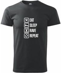 Myshirt.cz Eat sleep rave repeat - Heavy new - triko pánské - XS ( Černá )