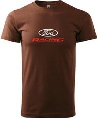 Myshirt.cz Ford Racing - Heavy new - triko pánské - XS ( Čokoládová )